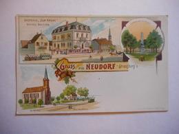 CPA 67 - STRASBOURG - GRUSS AUS NEUDORF, PRECURSEUR Illustrée - Strasbourg