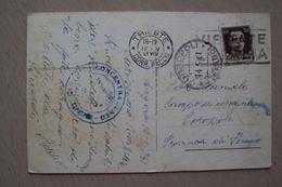 STORIA POSTALE CARTOLINA CON ANNULLO DEL CAMPO DI CONCENTRAMENTO DI CORROPOLI TERAMO DA TRIESTE - 1900-44 Victor Emmanuel III