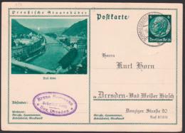 """Germany Picture-card P221/024 Bad Ems Ortsansicht """"Lernt Deutschland Kennen!"""" Schmiedeberg (Erzgeb) 16.10.34 - Duitsland"""