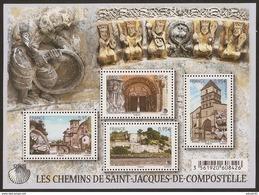 2015 - Bloc Feuillet F4949 Les Chemins De St Jacques De Compostelle  N° 4949 NEUF** LUXE MNH - Blocs & Feuillets