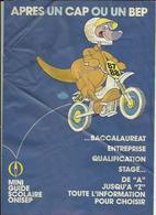 Mini Guide Scolaire  Onisep 1987-88  Bon Etat  7  Pages Documentations - Diploma & School Reports