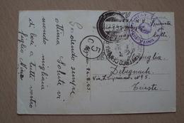 STORIA POSTALE CARTOLINA DA CAGLIARI CHIESA SAN FRANCESCO ANNULLO MITO MARINA + UNITà DIPARTIMENTALE 2 GUERRA 1943 - Storia Postale