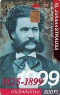 TARJETA TELEFONICA DE HUNGRIA. JOHANN STRAUSS. HU-P-1999-21. (031) - Música