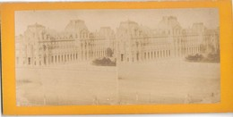 PHOTO - PARIS - LE LOUVRE - Cliché Avt 1900 - Vue Stéréo - Lieux