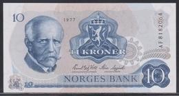 Norwegen 10 Kroner 1977 UNC - Norway