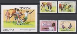 Soccer World Cup  1986 - UGANDA - S/S+Set MNH - World Cup