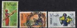SOMALIA - 1961 - Lotto Tre Valori Obliterati: Yvert 13, 15 E 16. - Somalia (1960-...)