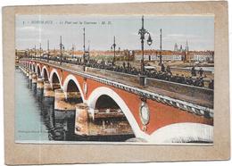 BORDEAUX  - 33  -   CPA COLORISEE - Le Pont Sur La Garonne  - DELC5 - - Bordeaux