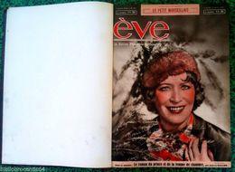 """Reliure: REVUE FEMINIME IDEALE """" EVE """" 1/1/1939 Au 10/9/1939 (N° 953 Au N°989) - Journaux - Quotidiens"""