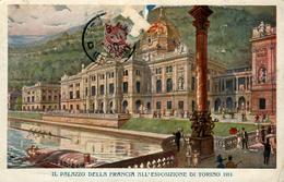 TORINO  EXPO 1911  Palais De La France ( Timbre Arraché) Chromolitho - Exhibitions