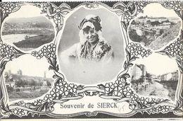 Souvenir De Sierck (Moselle) - Multivues - Edition Bergeret - Carte La Cigogne Non Circulée - Souvenir De...