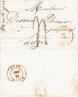 LAC De LOUVAIN Du 11/11/1847 Vers LIEGE  H. DESSAIN Editeur-imprimeur - Port De 4 Décimes - Signé FONTEYN - 1830-1849 (Belgique Indépendante)