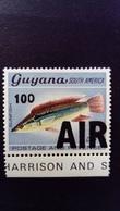 Guyana 1981 Animal Poisson Fish Surchargé Overprint 100 AIR Yvert PA2 ** MNH - Guyana (1966-...)
