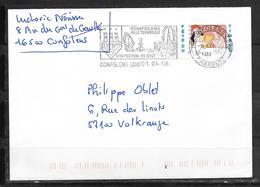 16 - CHARENTE - N° 4146 SUR LETTRE DE CONFOLENS DU 01/04/08 - FLAMME - Mechanical Postmarks (Advertisement)