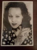 Cartolina Autografata Luisa Ferida  Vinceremo - Artistas