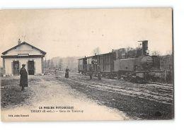 CPA 28 Trizay La Gare Et Le Train Tramway - Autres Communes