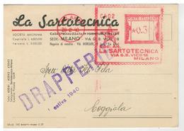 Cartolina Commerciale Milano - La Sartotecnica - Casa Specializzata In Forniture Per Sarti - Milano