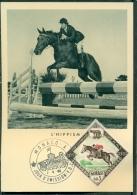 CM-Carte Maximum Card # 1960-Monaco #Sport #Jeux Olympiques,Summer Olympic Games Rome #Hippisme,Springreiter,equitation - Cartes-Maximum (CM)