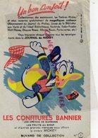 BUVARD LES CONFITURES BANNIER-JOURNAL DE MICKEY-DONALD WALT DISNEY- N° 2- CREME DE MARRONS-SIROP- - Sucreries & Gâteaux