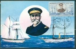 "CM-Carte Maximum Card # 1960-Monaco #  Oceanographic Museum  #  S.A.S. Albert I -  Ship, Bâteau ""Hirondelle"" - Cartas Máxima"