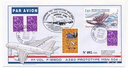FRANCE => AIRBUS A 380 - Premier Vol Prototype MSN 004 - Toulouse Blagnac  / VIGNETTE MURET 18.10.2005 - Primi Voli