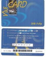 Telecarte Polynésie Française:  VINI CARD   BLEU  :     318  Fcfp - Polynésie Française