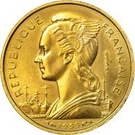 Monnaie, Réunion, 10 Francs, 1955, Paris, ESSAI, SPL, Aluminum-Bronze, KM:E6 - Réunion