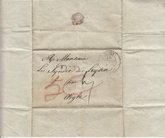 De Nyon,lettre à M. Le Syndic De Leysin En 14 Mars 1838 - ...-1845 Préphilatélie