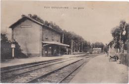 Cpa PUY GUILLAUME La Gare- Rails- Petite Animation - Autres Communes