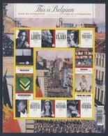 Belgie Belgique Belgium 2009 Mi 4016 /25 Sheet ** Boek En Literatuur / Livre Et Litérature / Literatur - This Is Belgium - Schrijvers
