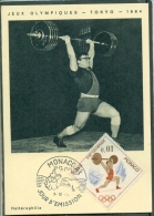 CM-Carte Maximum Card # 1964-Monaco # Sport # Summer  Olympic Games Tokio # Haltérophilie, Gewichtheben,weightlifting - Cartes-Maximum (CM)