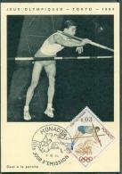 CM-Carte Maximum Card # 1964-Monaco # Sport # Summer  Olympic Games Tokio # Perchiste,Stabhochspringer,pole Jumper - Cartes-Maximum (CM)