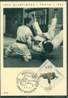 CM-Carte Maximum Card # 1964-Monaco # Sport # Summer  Olympic Games Tokio #  JUDO - Cartes-Maximum (CM)