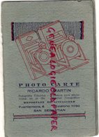 ESPAGNE-SAN SEBASTIAN-FUENTERRABIA- RARE PHOTO CARTE RICARDO MARTIN-FOTOGRAFIA ELECTRICA-AGFA FILM ISOCHROM - España