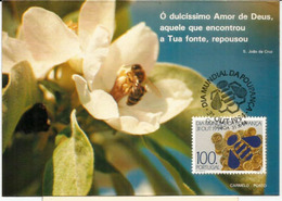 Abeille . Abelha.  Belle Carte'maximum Du Portugal - Honeybees