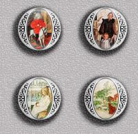 Carl Larsson Painting Fan ART BADGE BUTTON PIN SET 4 (1inch/25mm Diameter) 35 DIFF - Pin's