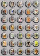 Carl Larsson Painting Fan ART BADGE BUTTON PIN SET 5 (1inch/25mm Diameter) 35 DIFF - Pin's