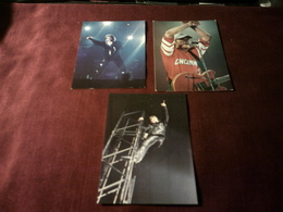 JOHNNY  HALLYDAY    °  LOT DE 3 CARTES POSTALES - Entertainers