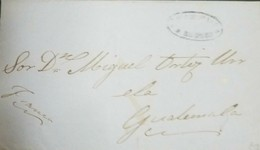 O) 1870 GUATEMALA, DILIGENCIAS GENERALES -ROBLES- FRANCA, TO GUATEMALA, XF - Guatemala