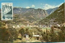CM-Carte Maximum Card #1959-Valls D´Andorra-Andorre # Tourisme,Montagnes- Les Escaldes ,Andorre-la-Vieille - Cartes-Maximum (CM)