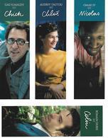 Marque-pages   -  Cinéma  -  Ensemble De 4  L'ECUME DES JOURS - Bookmarks