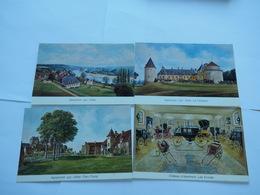 APREMONT SUR ALLIER- Lot 4 CPM 18 -Château, Jardin Blanc Village Et Musée Des Calèches,Gouache De Catherine Sérébriakof4 - France