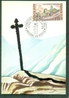 CM-Carte Maximum Card #1976-Andorre-Andorra # Tourisme #Architecture # Sanctuaire De Meritxell - Cartes-Maximum (CM)