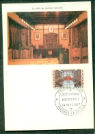 CM-Carte Maximum Card #1977-Andorre-Andorra # Institutions Andorranes, Salle Du Conseil Général - Cartes-Maximum (CM)