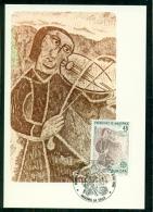 CM-Carte Maximum Card #1985-Andorre-Spain-Andorra # Europa-Cept -CEPT # Année De La Musique, Music Year, Mandoline (1) - Cartas Máxima