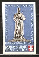 PRO PATRIA 1940 Zu 11 ** Découpé Du Bloc **/MNH SBK 35,- - Nuevos