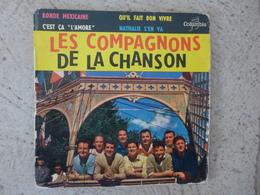45 T - ESRF 1234 M - Les Compagnons De La Chanson 1960 Ronde Mexicaine C'est ça L'adore Nathalie S'en Va Columbia - Vinyl Records