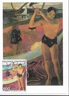"""GAUGUIN - CM Avec Timbre PA 174 - ( 1983) - """" L'homme à La Hache"""" - Ou """" Le Fendeur De Bois"""" - TTB - Impressionisme"""