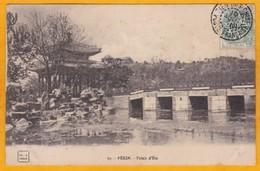 1911 - CP De TienTsin, Poste Française Vers Beaumont Sur Sarthe - 5c Type Blanc Chine - Vue Palais D'été, Pékin - Chine (1894-1922)