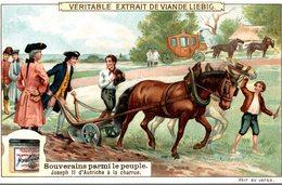 CHROMO LIEBIG  SOUVERAINS PARMI LE PEUPLE  JODEPH II D NAUTRICHE A LA CHARRUE - Liebig